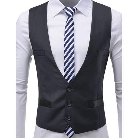 Thelees Mens Jacket Black Size 2XL Three Button Four Pocket Vest