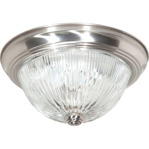 "Nuvo Lighting 76/609 2 Light 11-3/8"" Wide Flush Mount Bowl Ceiling Fixture"