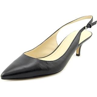 Marc Fisher Tiffani Women Pointed Toe Leather Slingback Heel