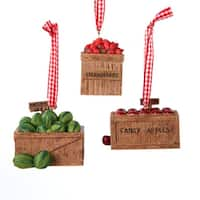 "Club Pack of 12 Fruit Crate Christmas Ornaments 2.75"" - multi"
