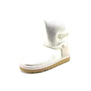 Ugg Australia Bailey Button Metallic Youth Round Toe Leather Winter Boot