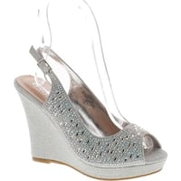 De Blossom Collection Womens Alina-66 Dressy Wedge Platform Wedge Sandals