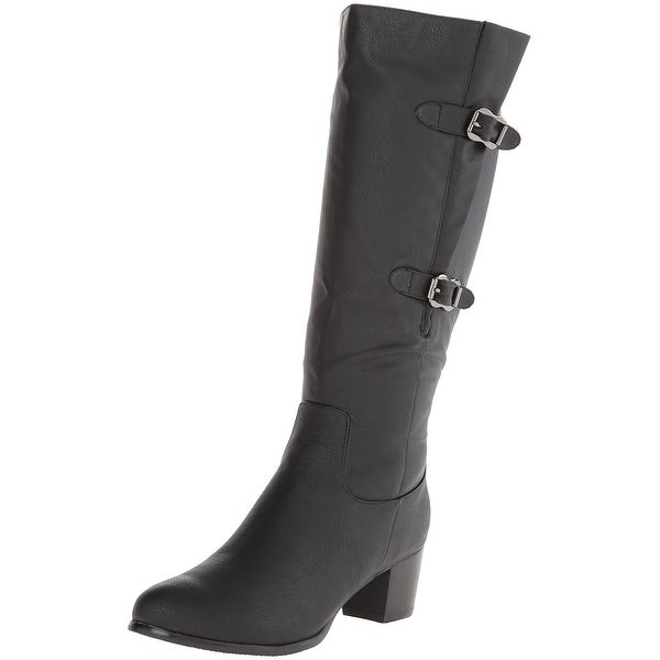Annie Shoes NEW Black Shoes Size 8.5M Knee-High Rosario Boots
