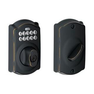 Schlage BE365V-CAM Camelot Electronic Keypad Single Cylinder Deadbolt