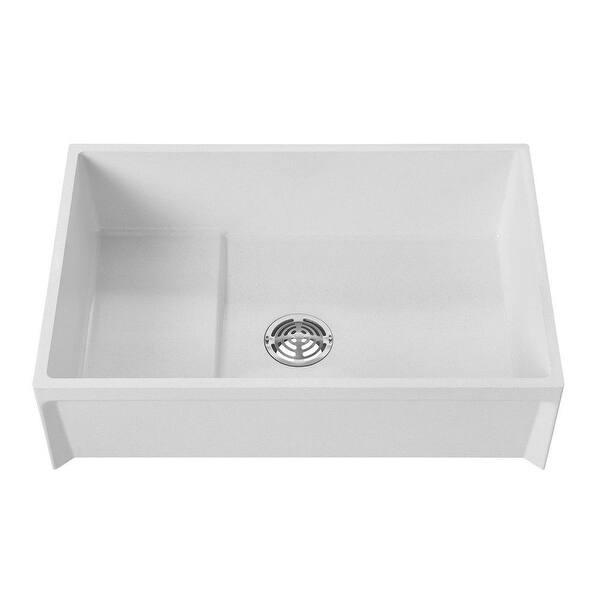 Fiat Mop Sink >> Shop American Standard Msb3624 Fiat 36 Floor Mounted Molded Stone