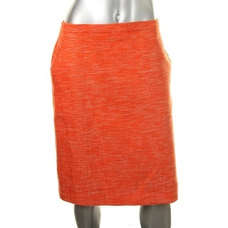 Anne Klein Womens Tweed Lined Pencil Skirt - 16