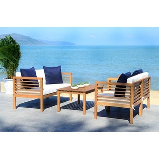 Link to Safavieh Outdoor Living Alda 4-piece Set with Accent Pillows Similar Items in Outdoor Loveseat