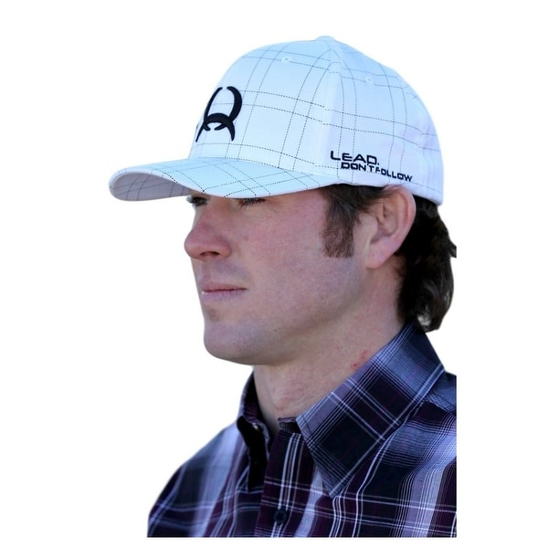 Shop Cinch Western Hat Mens Baseball Cap FlexFit Plaid White - Free  Shipping On Orders Over  45 - Overstock - 16605686 f9ff4976371