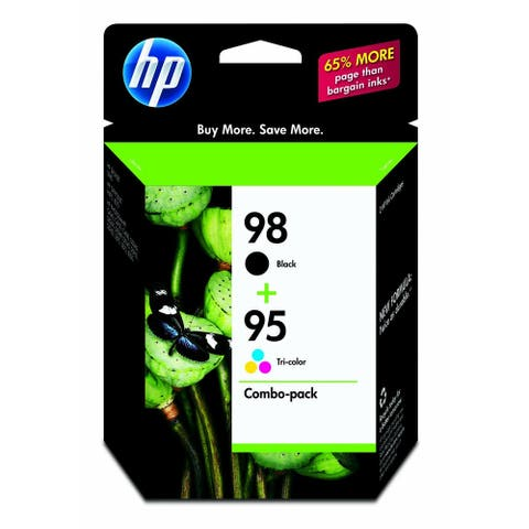 HP 98 & 95 Black/Tricolor Ink Cartridges pack of 2 (CB327FN) - Multi-color