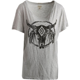 Denim & Supply Ralph Lauren Womens Heathered Animal Print Graphic Tee