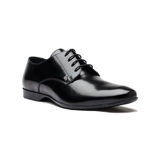 Versace Collection Men's Leather Oxford Dress Shoes Black
