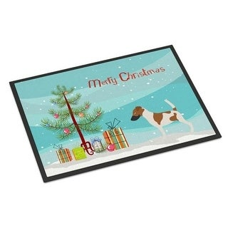 Carolines Treasures BB8441MAT Smooth Fox Terrier Christmas Indoor or Outdoor Mat - 18 x 27 in.