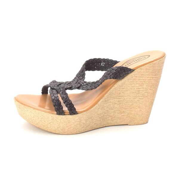 Callisto Womens Paulet Leather Open Toe Casual Platform Sandals - 10