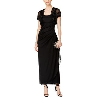 MSK Womens Evening Dress Ruched Layered