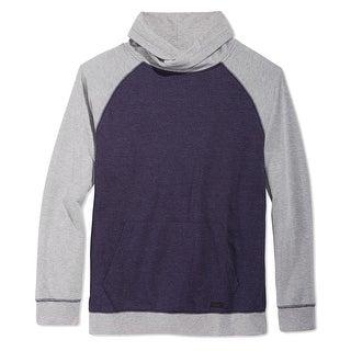 Univibe NEW Blue Gray Mens Size Large L Funnel Mock Turtleneck Sweater