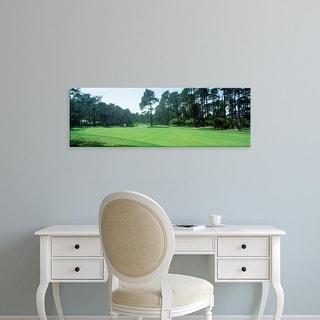 Easy Art Prints Panoramic Images's 'Spyglass Golf Course Pebble Beach CA USA' Premium Canvas Art