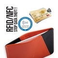 Ikepod Micro Slim Card Wallet (Orange of 4 Color) [Italy Made//Top Leather] - Orange - Thumbnail 4