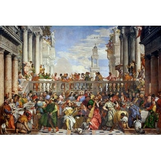 The Wedding Feast at Cana - (Artist: Paolo Veronese c. 1563) - Masterpiece Classic (Cotton/Polyester Chef's Apron)