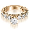 2.25 cttw. 14K Rose Gold Antique Round Cut Diamond Engagement Ring - Thumbnail 0