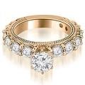 4.40 cttw. 14K Rose Gold Antique Round Cut Diamond Engagement Set - Thumbnail 2