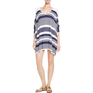 Tommy Bahama Womens Tunic Sweater Oversized Striped