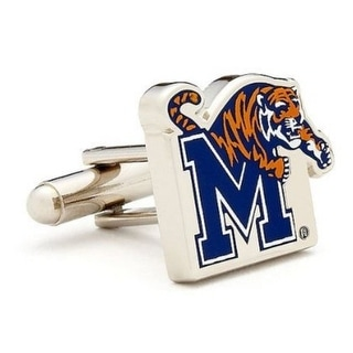 Silver Plated Memphis Tigers Cufflinks