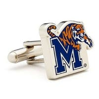 Silver Plated Memphis Tigers Cufflinks