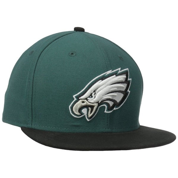 NFL Mens Philadelphia Eagles On Field 5950 Midnight Green Game Cap By New Era - Midnight Green