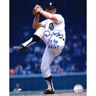 Denny McLain Detroit Tigers Pitching 8x10 Photo W2x CY 6869