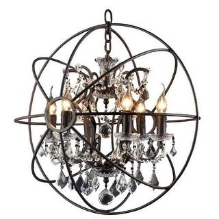 Link to AA Warehousing 6 Light Chandelier in Rustic Black Finish Similar Items in Canvas Art