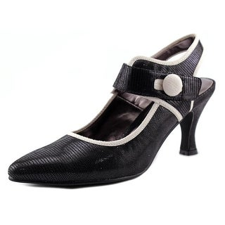 Bellini Zola Women Pointed Toe Canvas Black Mary Janes