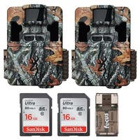Browning Dark Ops Pro XD 24MP Trail Camera (2) with 16GB Card (2) and Reader - Camouflage