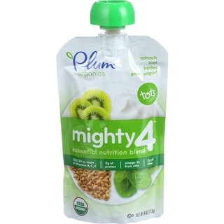 Plum Organics - Spinach, Kiwi & Barley Greek Yogurt ( 6 - 4 OZ)