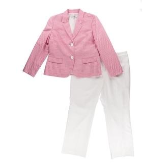 Le Suit Womens Petites The Hamptons Striped Trousers Pant Suit