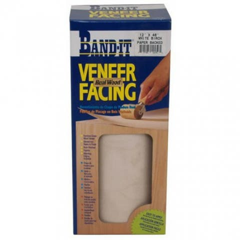 "Band-IT 12450 Wood Veneer Paperback Facing, 12"" x 48"", White Birch"