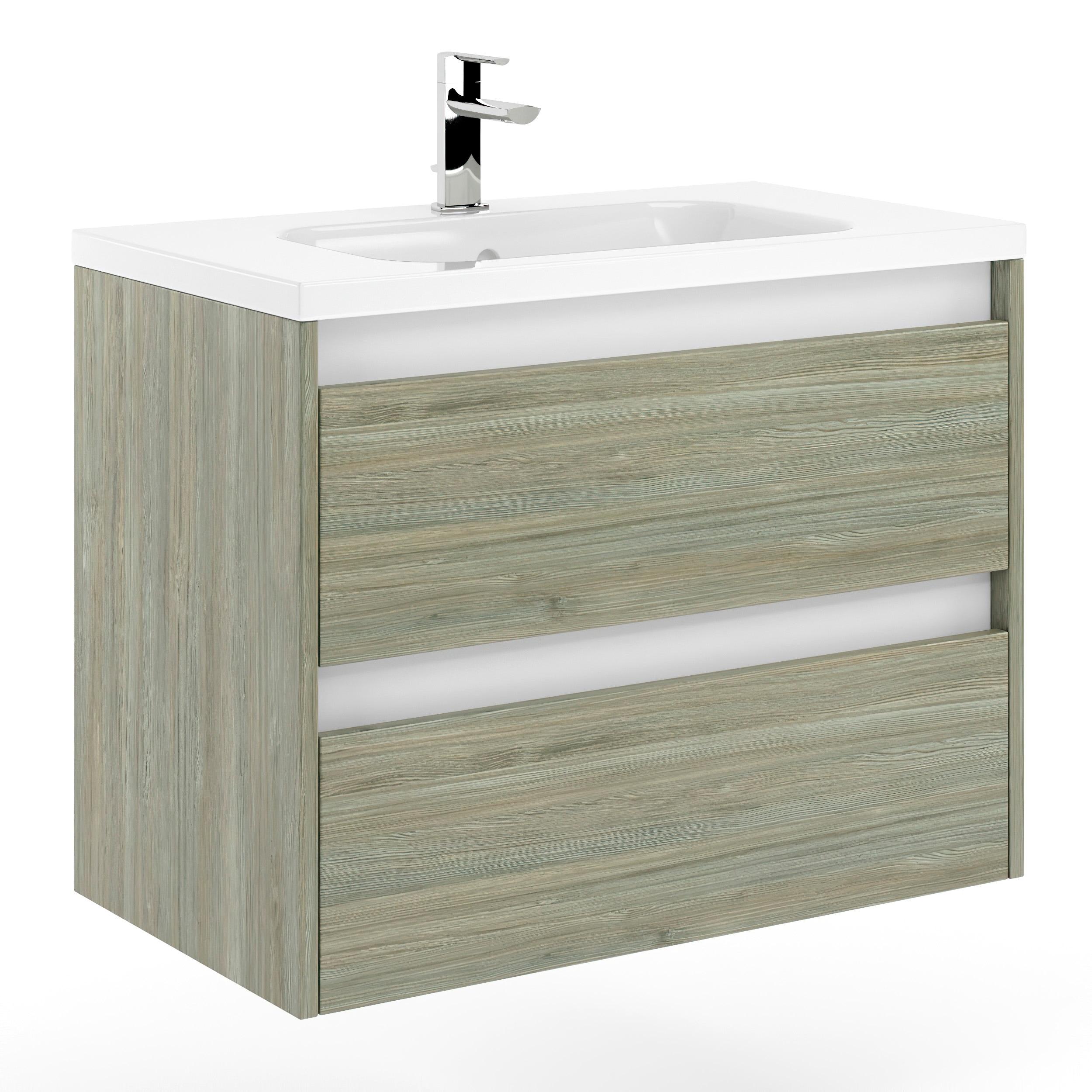 32 Bathroom Vanity Cabinet Sink Docce W32 X H35 X D18 In Sahalie Pine Wood On Sale Overstock 32159777