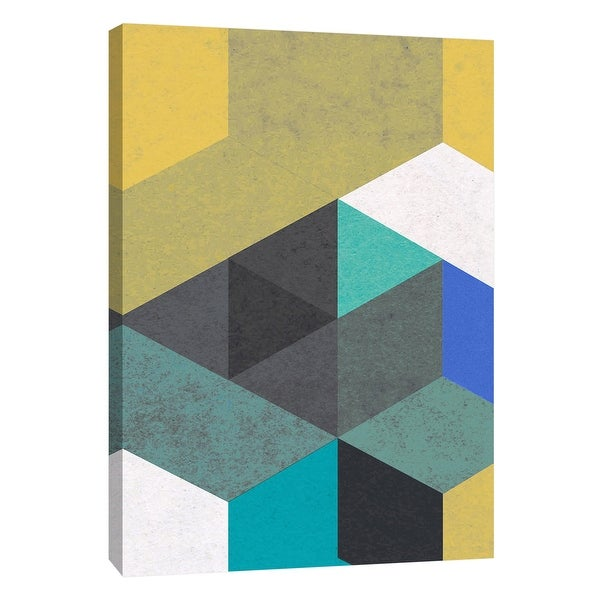 """PTM Images 9-108439 PTM Canvas Collection 10"""" x 8"""" - """"Re-Stacked B"""" Giclee Patterns and Designs Art Print on Canvas"""