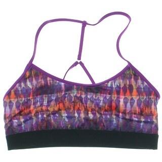 Alo Yoga Womens Spark Bra Printed Pullover Sports Bra - S