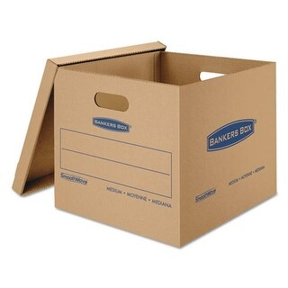 Smoothmove Classic Moving And Storage Boxes, Kraft - 18 L x 15