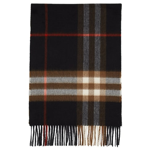 Burberry Mens Womens Black Brown Giant Check Scarf