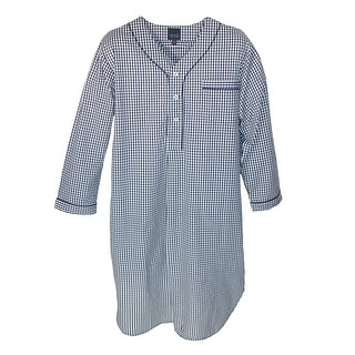 Majestic International Men's Gingham Hot Cold Nightshirt - Blue