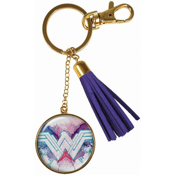 Spoontiques 17659 wonder woman pink keychain