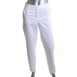 DKNYC Stretch Cotton Capri Pants - 14