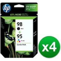 HP 98 Black & 95 Tri-color Combo Pack Original Ink Cartridges (CB327FN)(4-Pack)