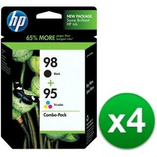 """""""HP 98 Black/95 Tri-color 2-pack Original Ink Cartridges CB327FN (4-Pack) HP 95/98 Combo Pack Color Ink Cartridge - Black, Color"""