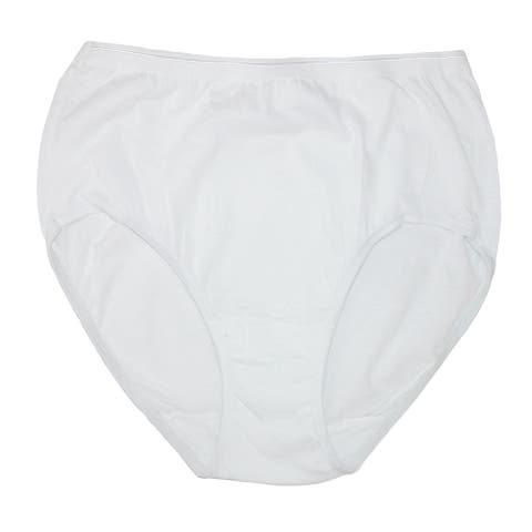 Fruit of the Loom Women's White Cotton Briefs (6 Pair Pack)