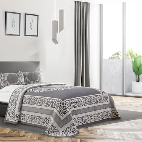 Miranda Haus Vintage Mandala Cotton Blend Woven Jacquard Bedspread Set