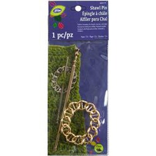 Gold Oval Chain - Loran Shawl Stick Pin