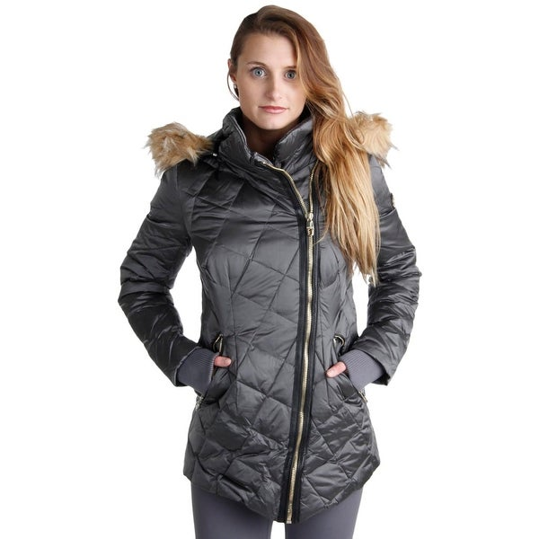 Shop Steven By Steve Madden Womens Coat Quilted Faux Fur Lined ... cb8d6ceaa