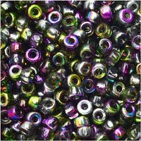 Czech Glass Matubo, 8/0 Seed Bead, 8 Gram Tube, Magic Violet Green